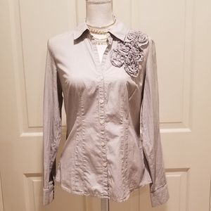 NWOT Striped Button Down Shirt Ann Taylor Loft